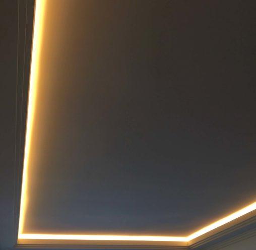 Réalisations savoir-faire Staff plafond contemporain Hôtel Villa Maia