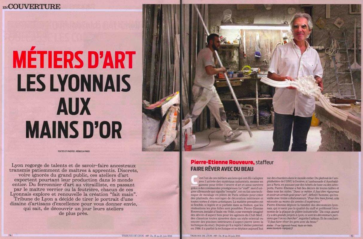 Article La Tribune de Lyon - Rouveure Marquez en couverture