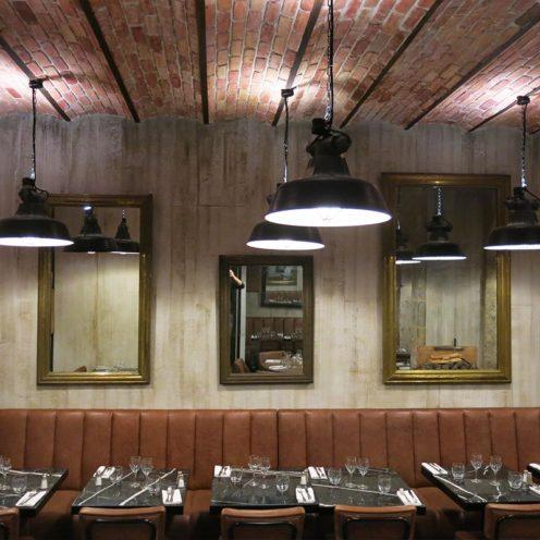 plafond en staff imitation briques