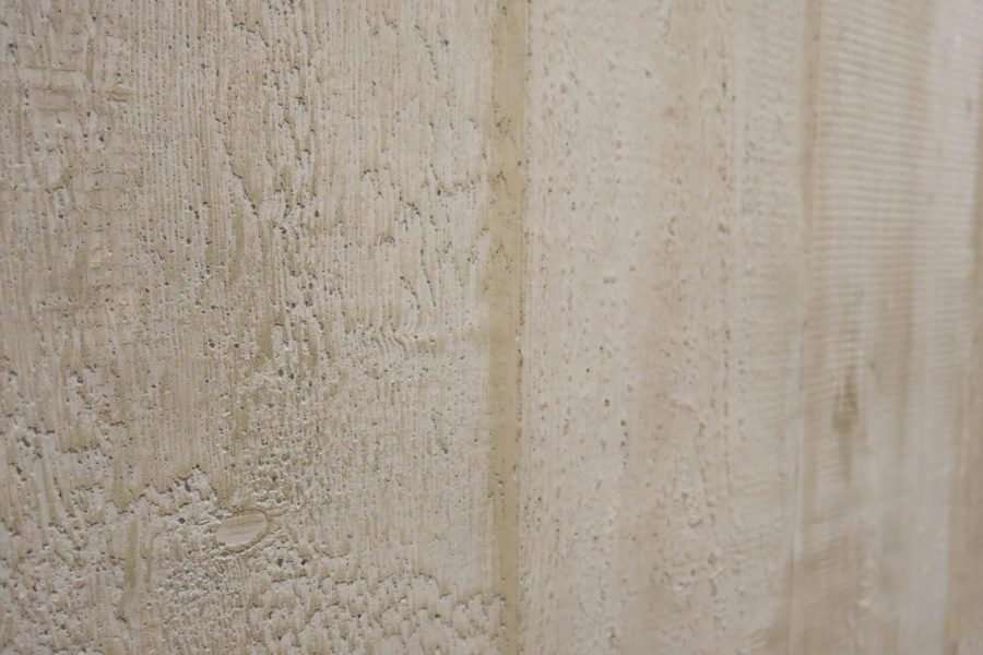 Texture imitations made of fibrous plaster