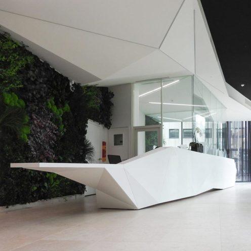 Exemple de décoration de plafonds graphique par la Maison Rouveure Marquez