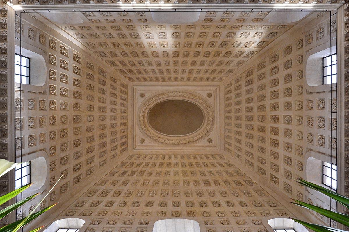 Plafond vouté pour le Dôme de l'Hôtel Dieu à Lyon par Rouveure Marquez