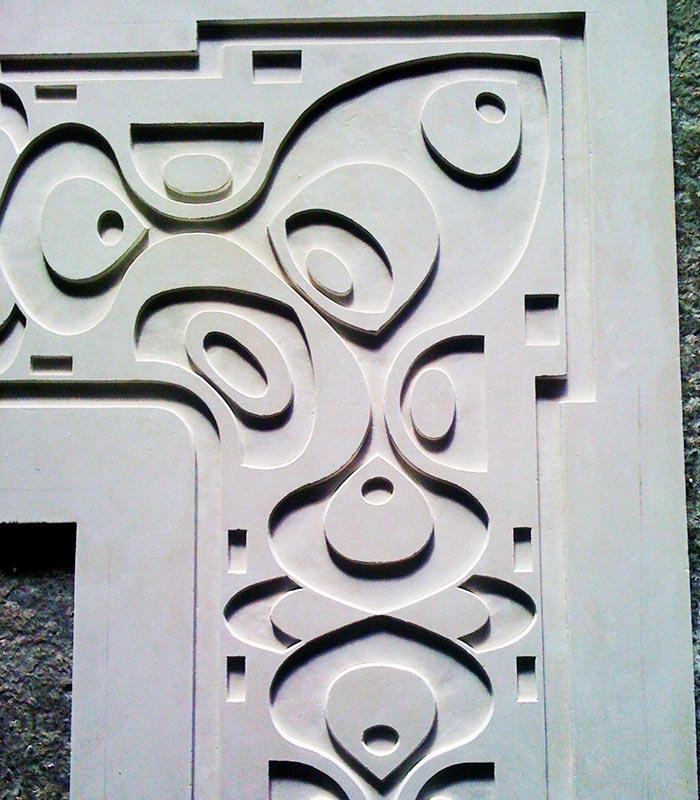 Décors de portes et d'angles en staff par Rouveure Marquez