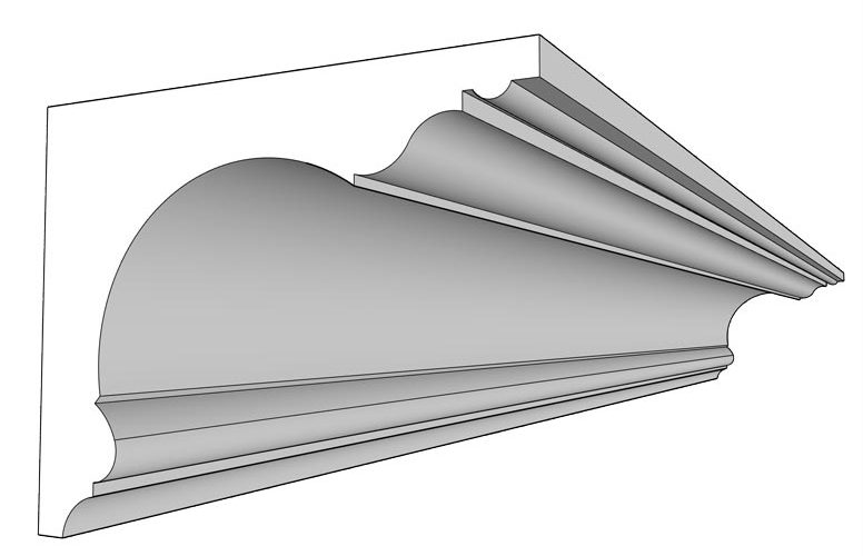 Modèle de corniche gorge imaginé par Rouveure Marquez