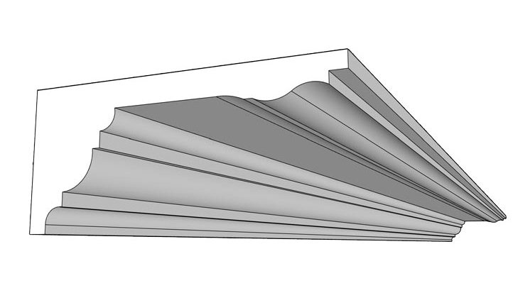 Corniche à larmiers, un modèle de décoration proposé par Rouveure Marquez