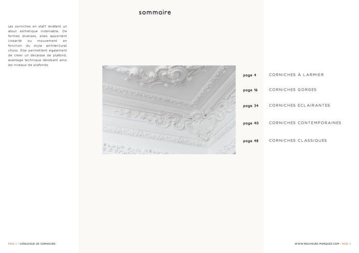Catalogue de corniches en staff