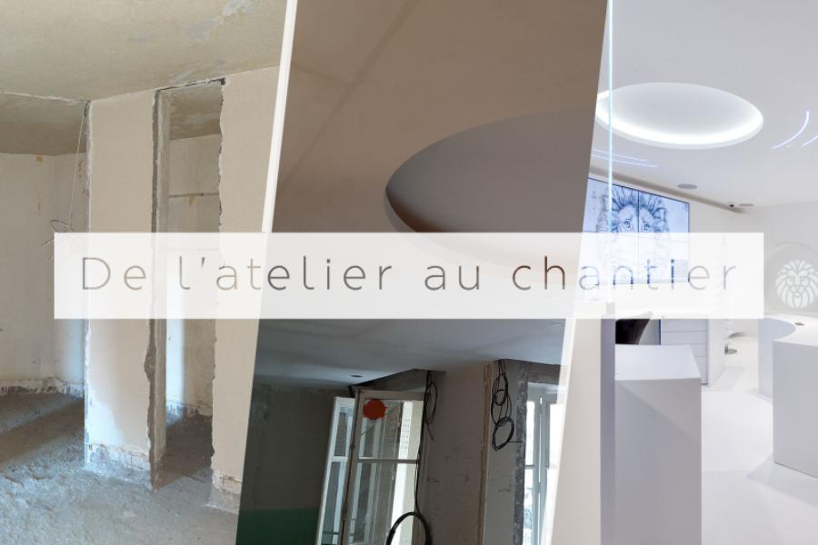 De l'atelier au chantier : l'intérieur en staff d'Artdenteck