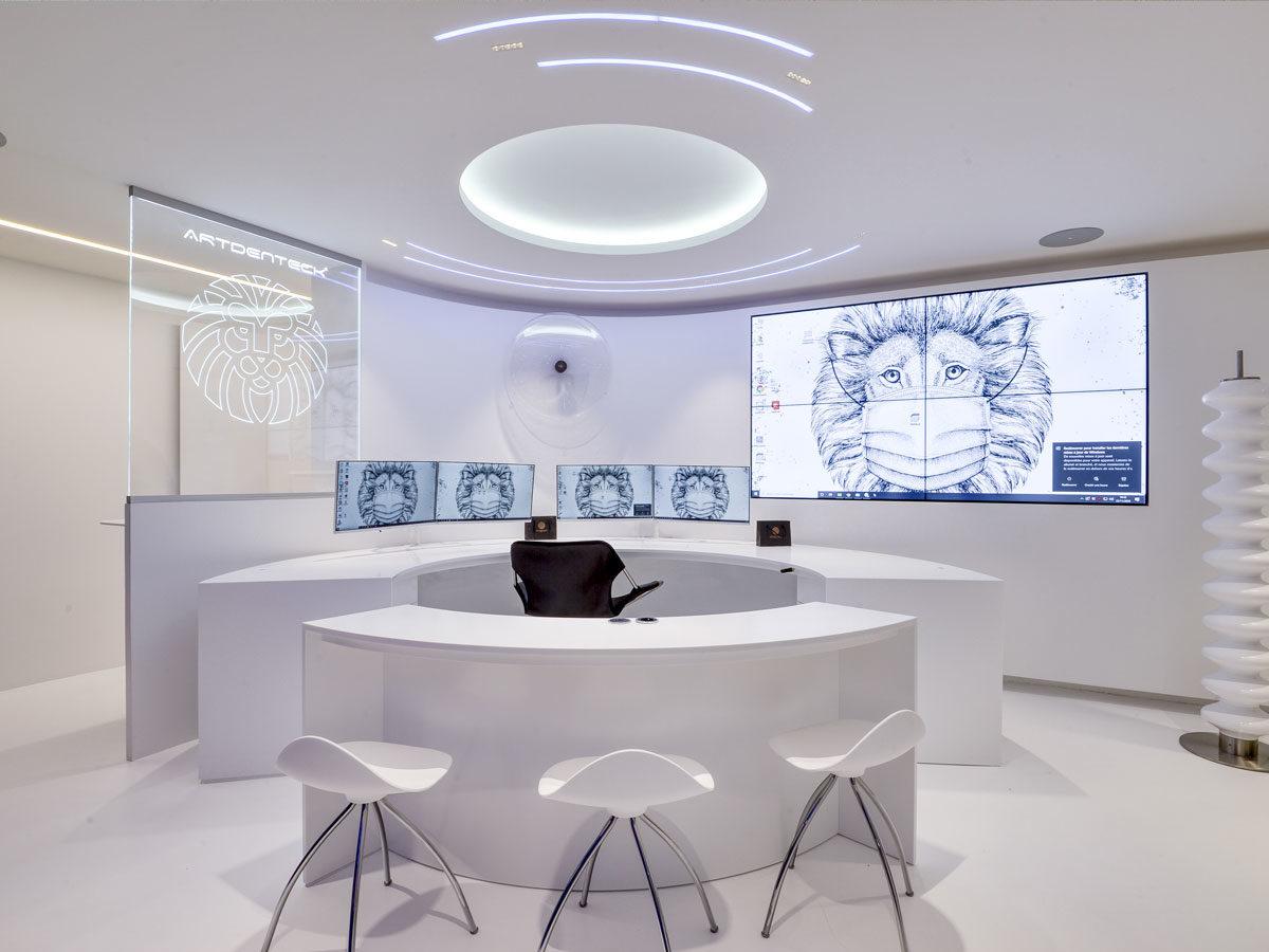 Zone accueil - bureau au laboratoire en staff Artdenteck