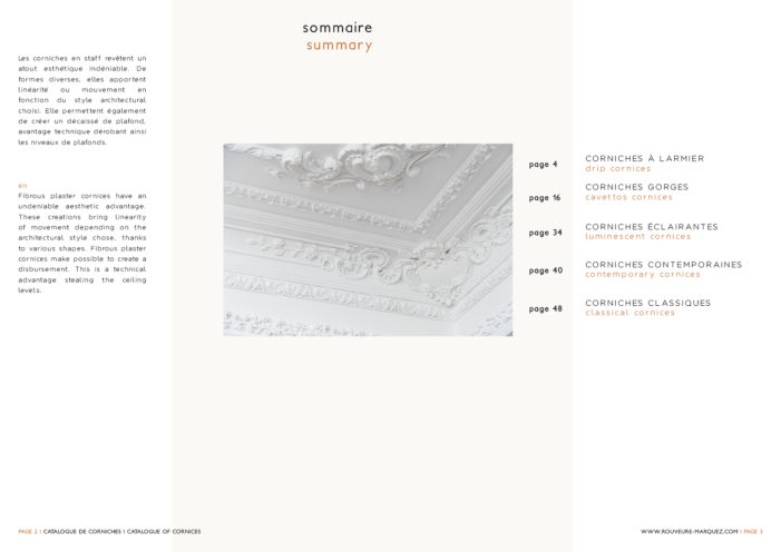 Catalogue of fibrous plaster cornices