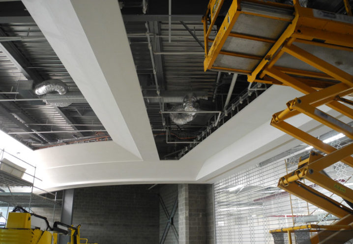 Sound insulation with fibrous plaster