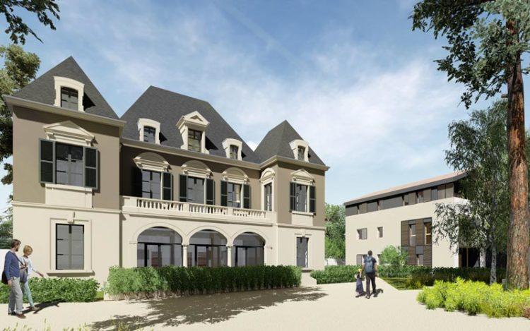 Plan 3D du projet de réhabilitation du Château de la Birgandière par LHenry Architecture