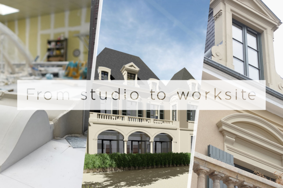 From studio to worksite: reproduction at château de la Brigandière